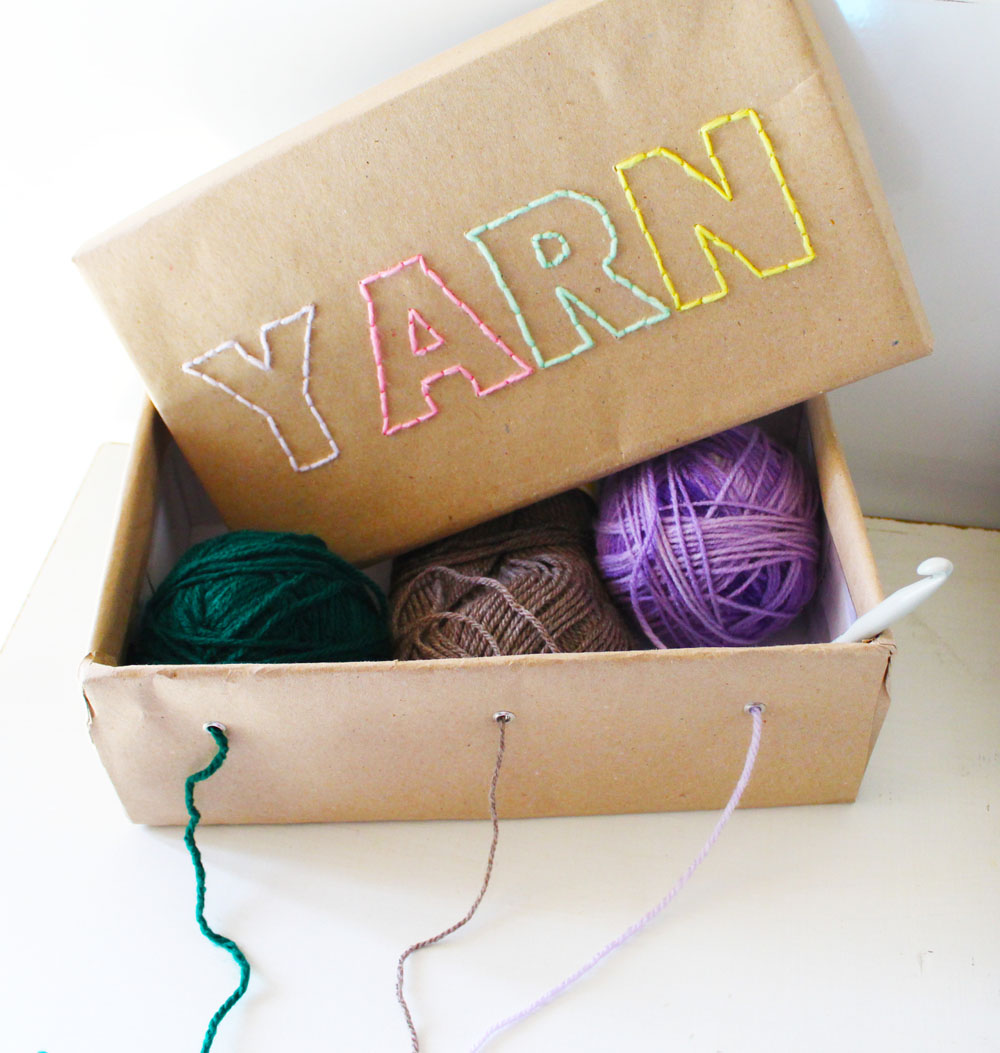 How To Make A Yarn Box Perfect For Graph Afghans Akamatra