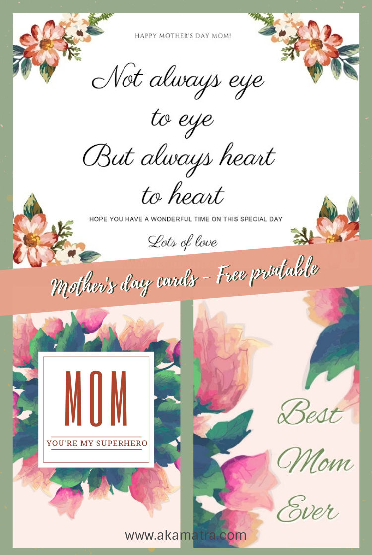 image relating to Mother's Day Printable Card named Moms working day playing cards - No cost printable - Akamatra