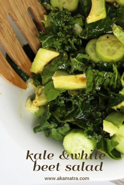 Kale and white beet salad – Vegan recipe