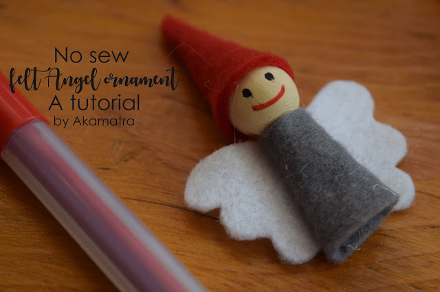 No sew felt angel ornament tutorial. And a lot of Christmas craft.