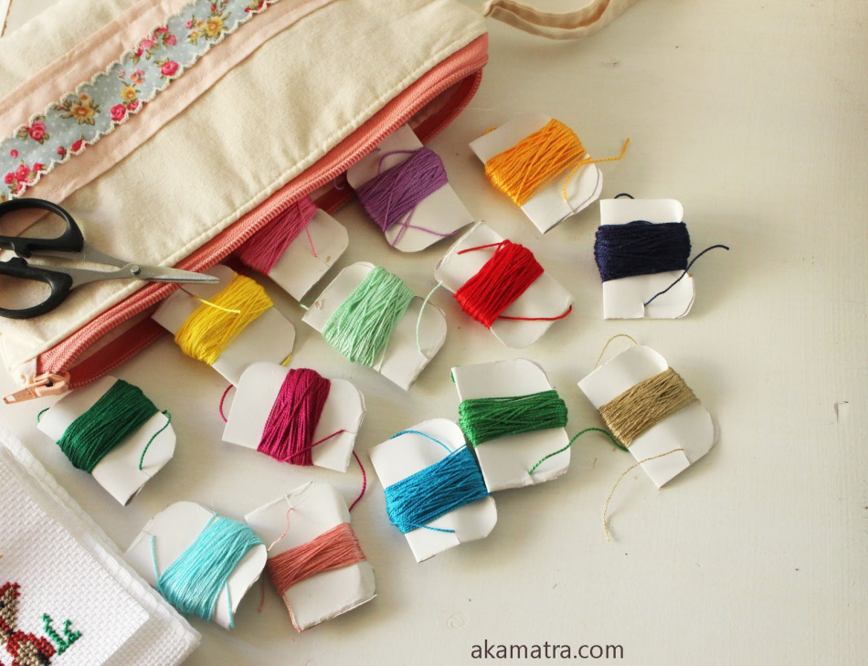 DIY embroidery travel kit