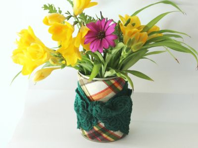 Spring vase tutorial - Recycling a tin can