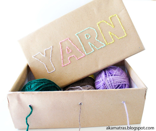 How to make a yarn box - Perfect for graph-afghans