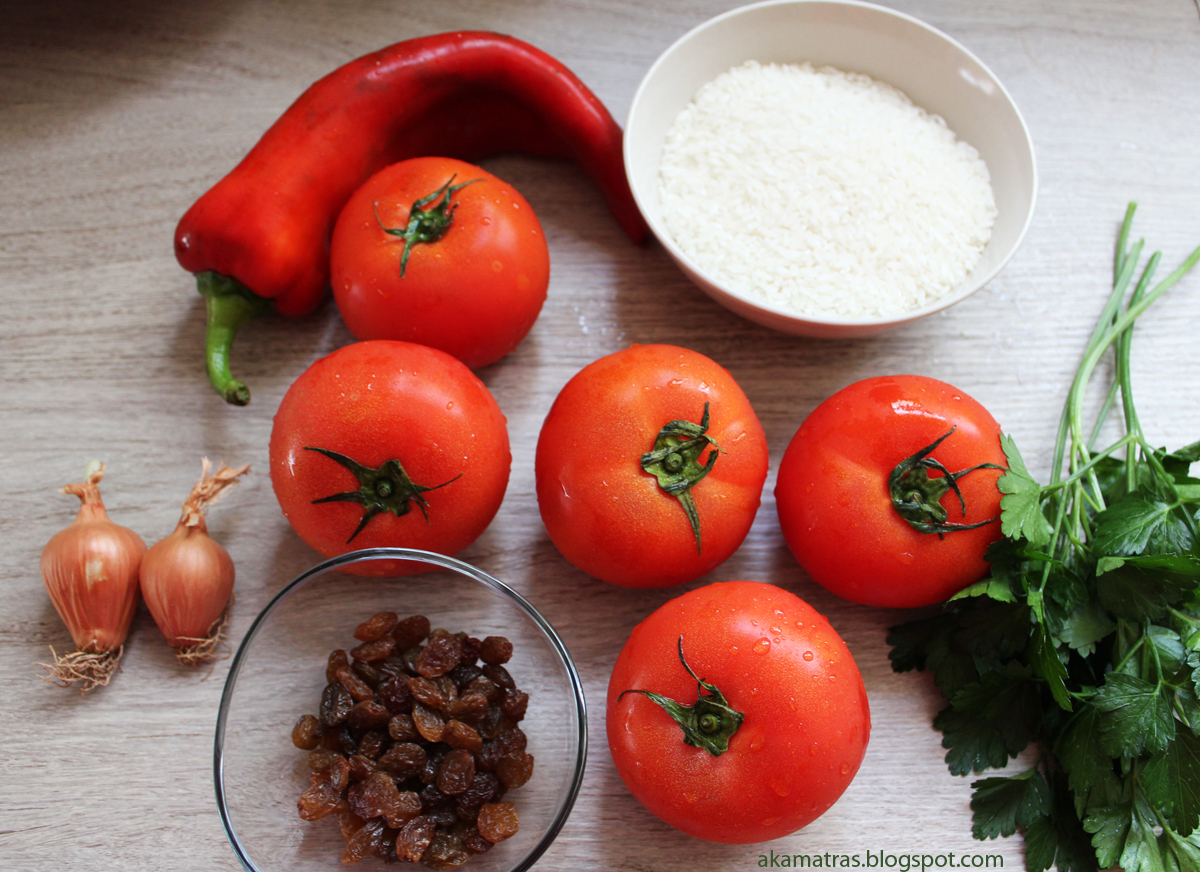 Stuffed tomatoes - Greek gemista - Vegan recipe
