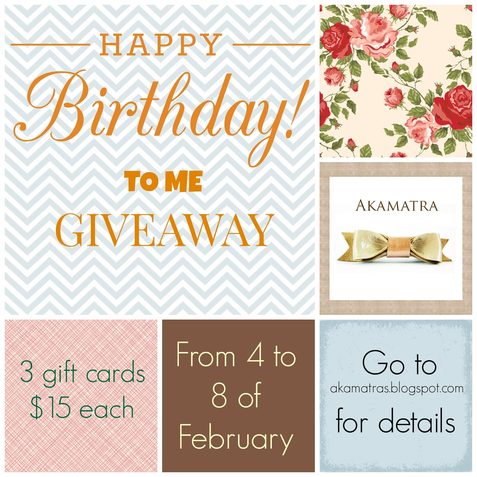 Happy Birthday to me Giveaway!!!