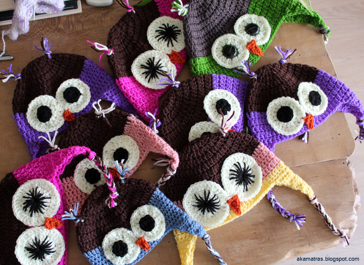 Crochet owl hats for kids - Christmas gifts for 2014