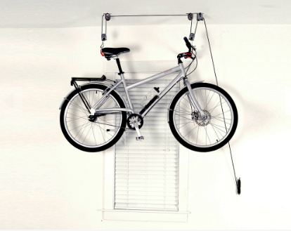space saving device mounted bike rack