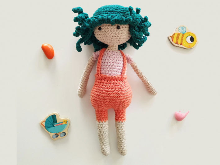 Kelly Doll crochet pattern - Amigurumi Today | 531x709